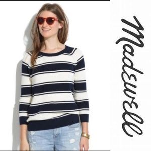 Madewell Bridgeview Pullover in Blue Stripe